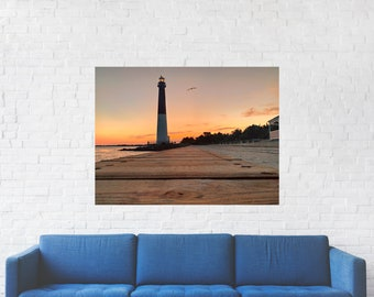 Barnegat Light House Print on Metal
