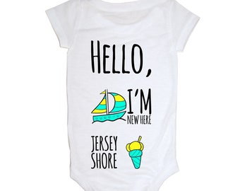 Hello, I'm new here! Jersey Shore Baby Onesie