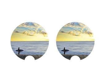 Surfer Sunrise Car Coaster
