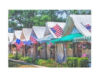 NEW Puzzle & A Print : Ocean Grove Tents