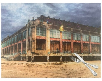 Convention Hall Cutting Board, Asbury Park New Jersey