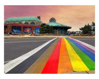 Asbury Park Rainbow Runway Cutting Board