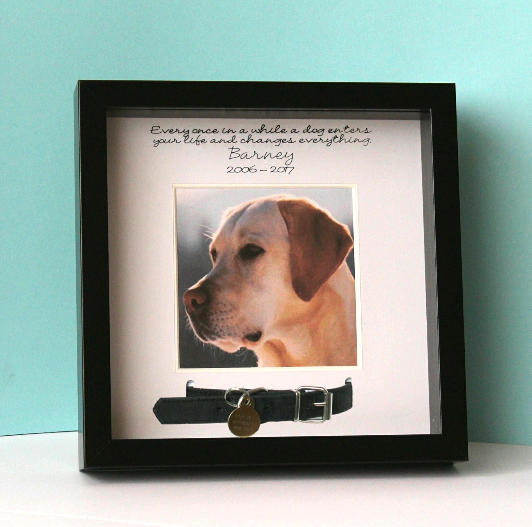Personalisierte schwarzen Bilderrahmen für Haustier Hund   Etsy
