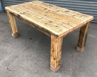 Exceptionnel Reclaimed Rustic Industrial Farmhouse 6 8 Seater Dining Table   Bar Cafe  Restaurant Furniture Solid Wood Made In Sheffield 551