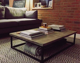 Industrial Coffee Table | Etsy