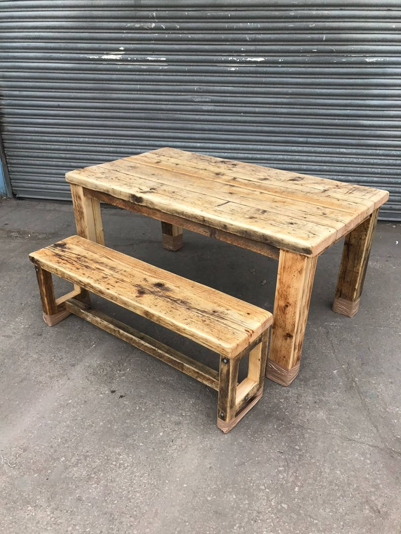 c0dc054ac Reclaimed Rustic Industrial Farmhouse 6-8 Seater Dining Table
