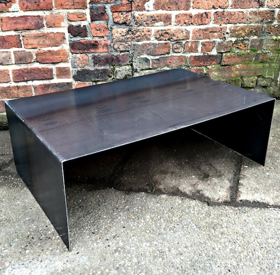 Industrial Chic All Steel Cube Coffee Table Metal TV Unit