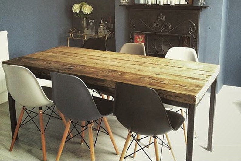 c51257476b5d Reclaimed Industrial Chic 6-8 Seater Dining Table Bar Cafe | Etsy