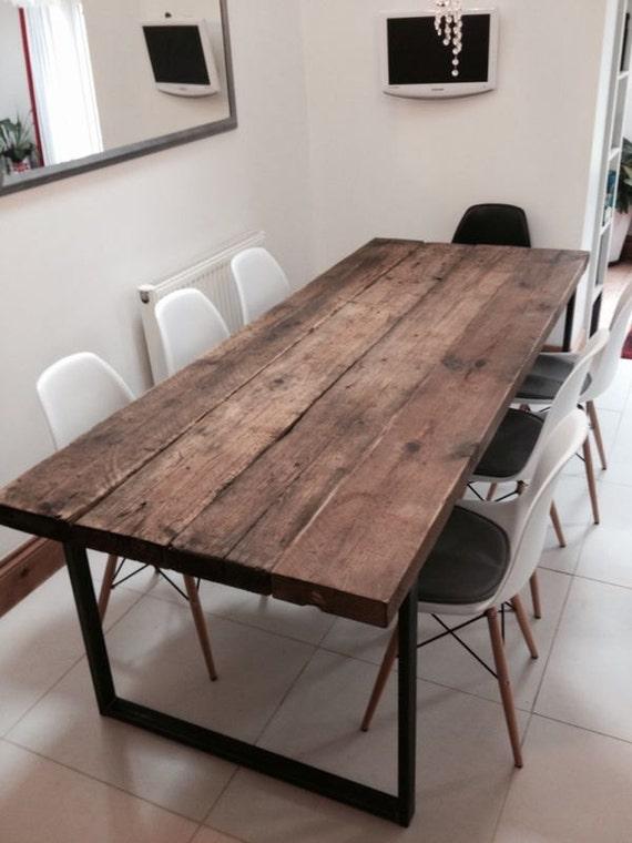 Reciclado Industrial Chic mesa de comedor 6-8 plazas Bar | Etsy