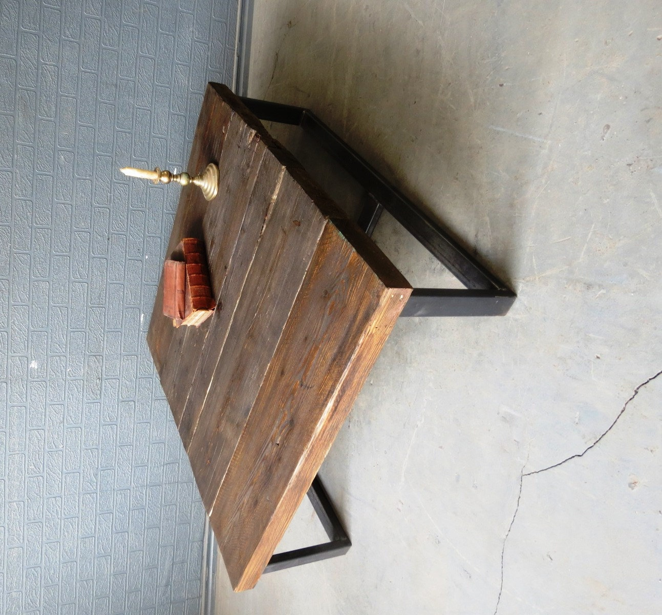 Industrial Chic Coffee Table: Industrial Chic Style Reclaimed Custom Coffee Table Steel