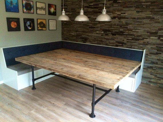 Reclaimed Industrial Chic Pipe Seater Conference Table Etsy - 10 seater conference table