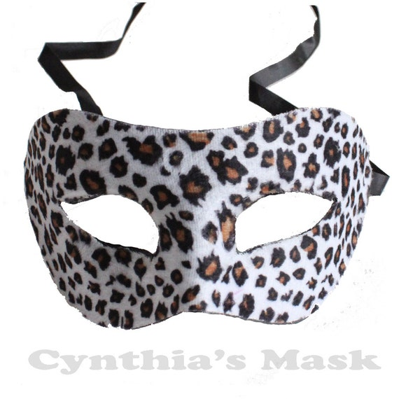 Ladies Girls Eye Mask Adult Animal Leopard Eye Mask Fancy Dress Party Accessory