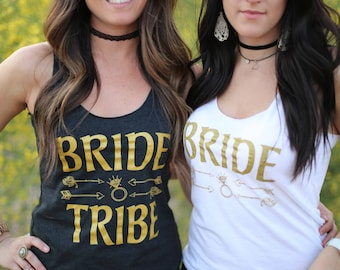 bride tribe. bride tribe tank tops. bride tribe shirts. bachelorette party shirts. bridal party tanks. bachelorette shirts. bridesmaid tank.