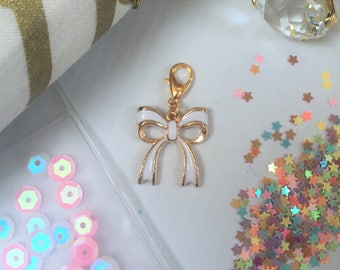 Travellers Notebook Charm- Bow, TN, Planner Charm