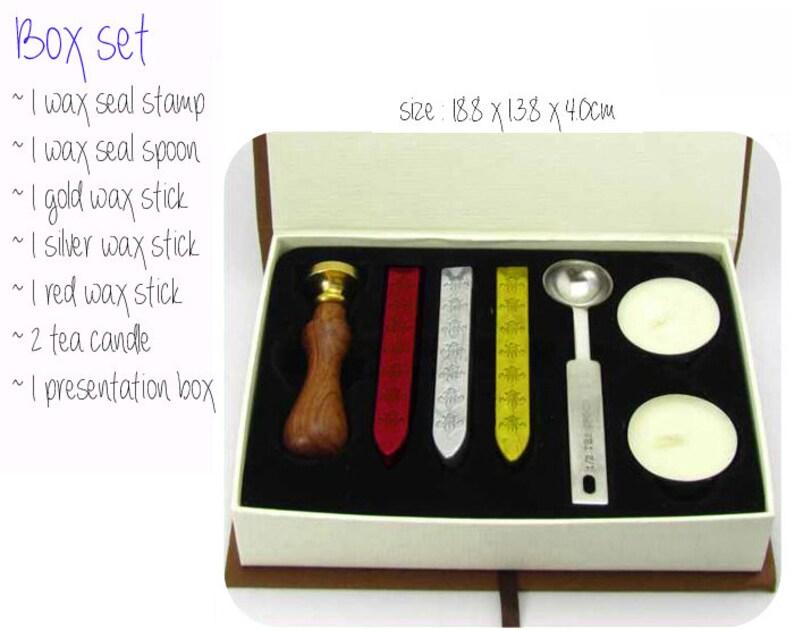 ANGELIC POWER RUNE Wax Seal Stamp  Wedding Invite  Birthday Party Invitation  Envelope Letter Seal  Starter Kit  Gift Box Set