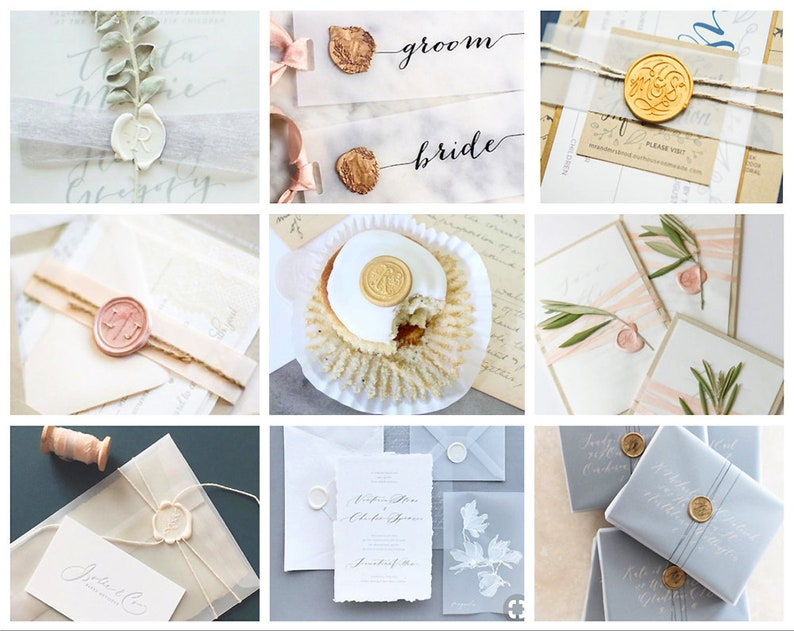 ARTICHOKE Wax Seal Stamp  Wedding Invite  Birthday Party Invitation  Envelope Letter Seal  Starter Gift Packing  Spoon Candle Box Set