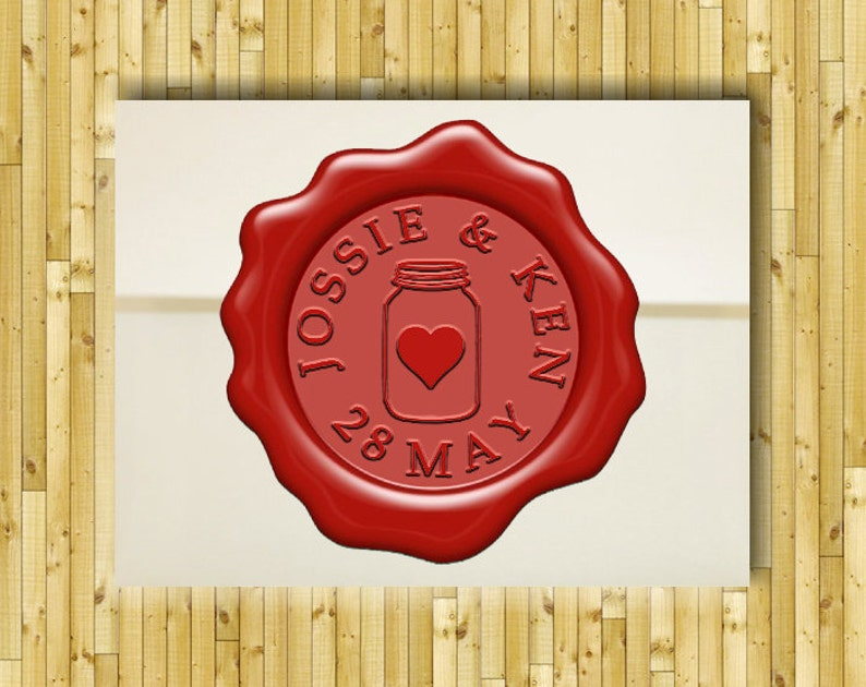 SAVE THE DATE Custom Personalized Wax Seal Stamp  Wedding Invitation  Birthday Party  Gift Box Set