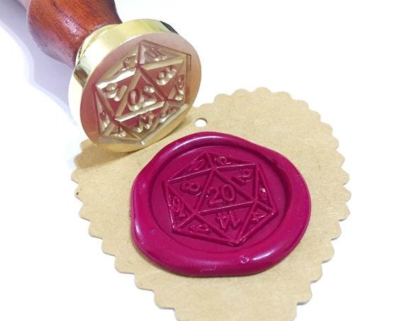 sealing wax stamp Custom wax Seal Kit Dice on moon  wax seal stamp wax stamp