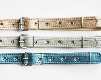 Silver belt Vegan leather belt Women belt gold Vegan belt Metallic leather waist belt Vegan gift Hips faux leather belt