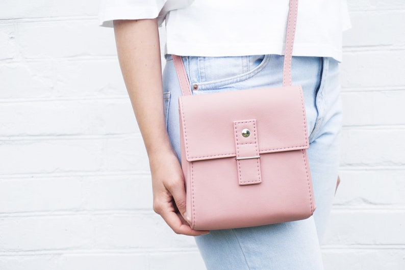 61c71494b1 Small crossbody bag Blush pink purse crossbody Mini bag iPhone