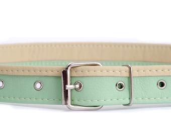 Mint belt Vegan leather belt for women Waist belt Vegan belt Faux leather belt Hips belt Mint green belt Vegan gift Women belt
