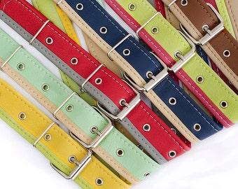 Vegan belt for women Vegan leather belt Colorful waist belt Custom color faux leather belt Yellow belt Brown Navy Green Red Mint