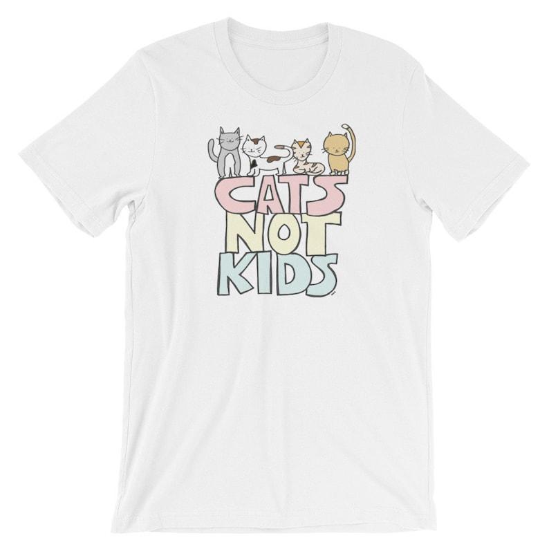Cats not Kids Short-Sleeve All Gender T-Shirt image 0