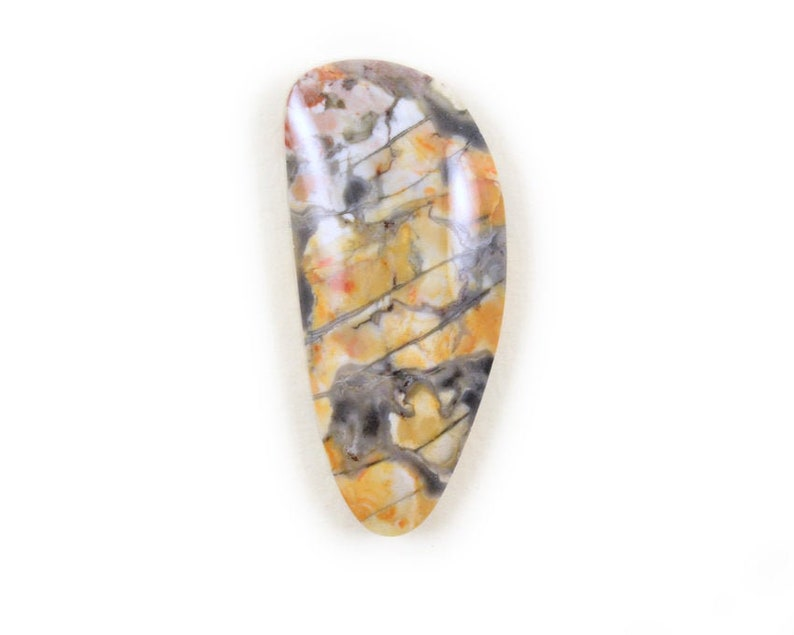 Roan Leopard Marble Cabochon Natural Stone Cabochon Black Yellow Stone Freeform Pendant Stone Designer Cabochon Custom Cabochon Handmade