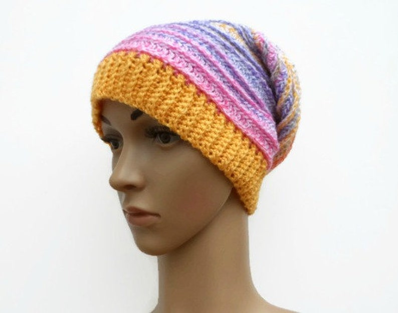 962399f1298 Crochet Hat Ladies Bright Beanie Slouch Hat Hat for Teens