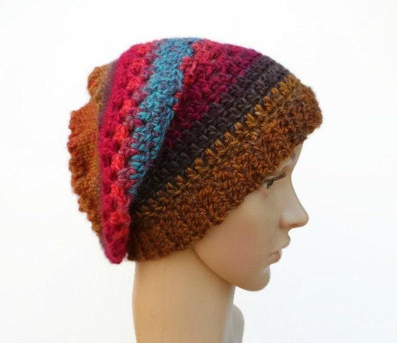 5885b99d420 Ladies Crochet Hat Winter Hat Slouch Hat Festival Hat