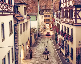 """Germany Photography, Europe Street Photo, Rothenburg ob der Tauber, """"The Warmth of Rothenburg"""""""