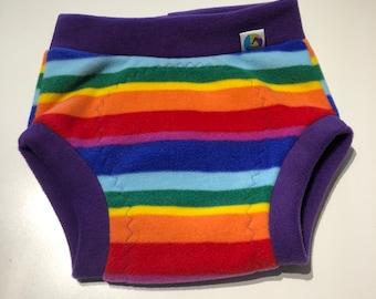 XL fleece soaker, fleece nappy cover, reusable nappy cover, nappy wrap, cloth nappy cover