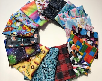 Pad pouch, pad pod, pad wrapper for cloth sanitary pad, reusable menstrual pad, face covering