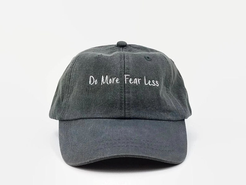 Do More Fear Less Dad Hat Curved Bill Unstructure 6 Panel  56cba4b509a1
