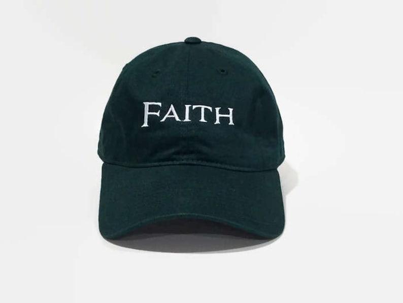 a785e7b02e833 Faith Baseball Cap Six Panel Unstructured Dad Hat Strapback