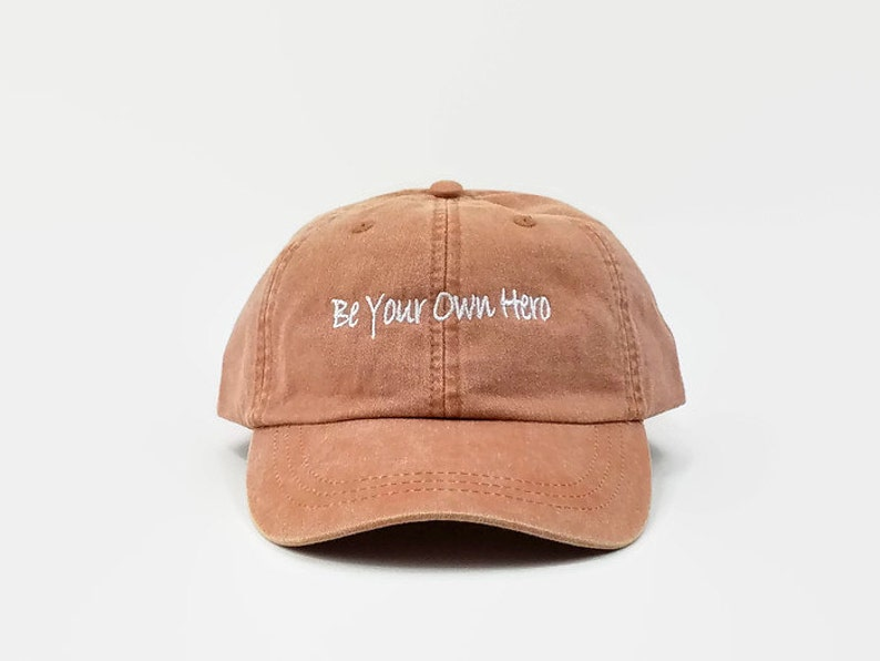 caf88cfd5dc Be Your Own Hero Baseball Dad Hats Embroidered Adjustable