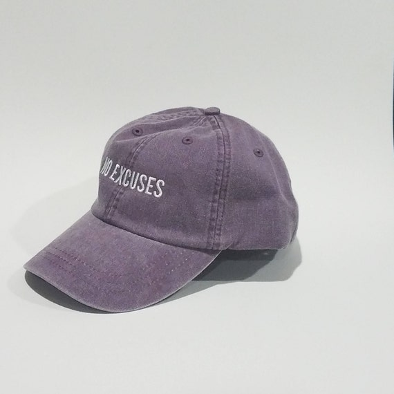 dd1802643fb17 Baseball Cap Embroidered Hat Dad Hats No Excuses Plum Hat