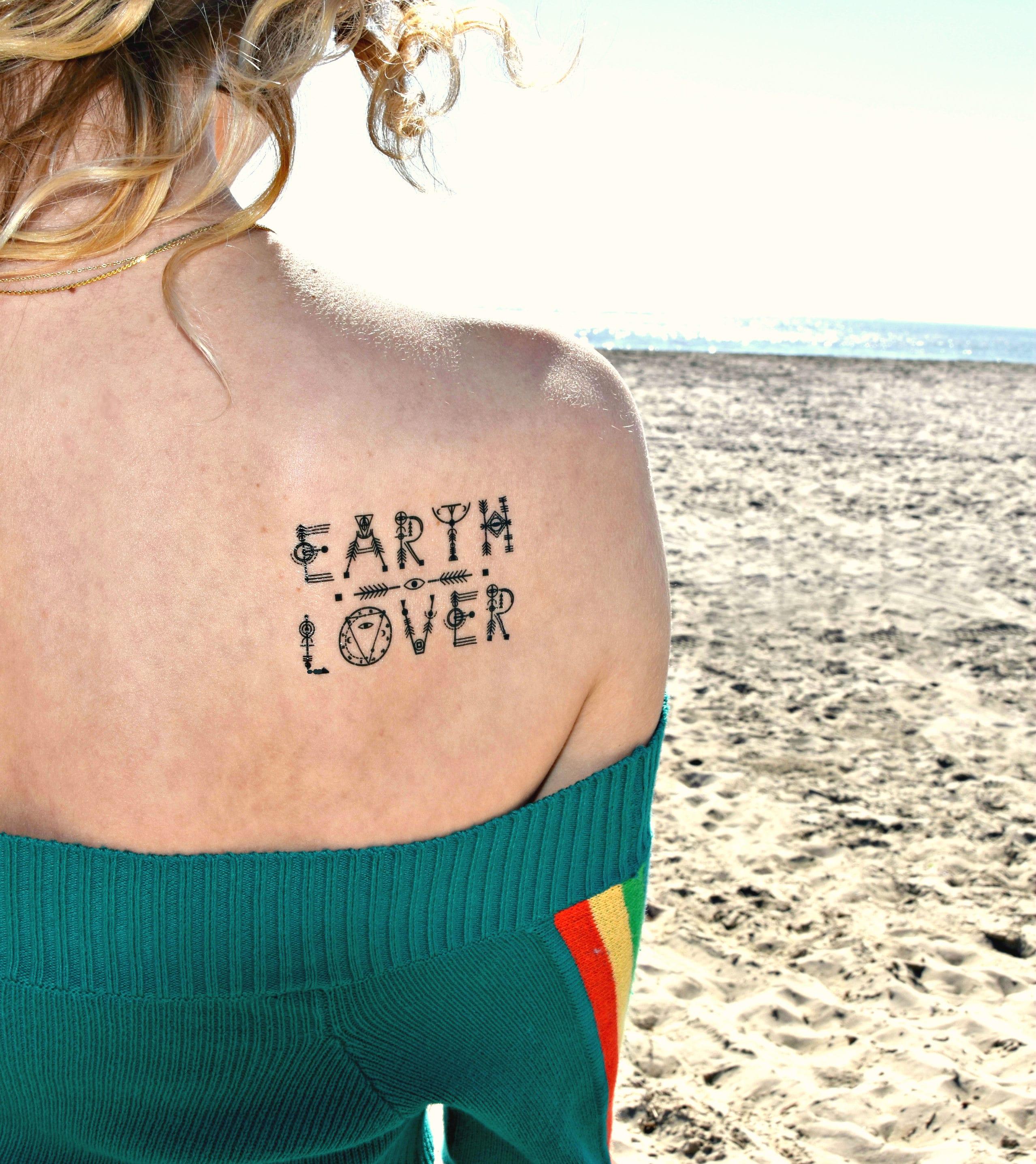 Klima Wandel Erde-Liebhaber-Tattoo Mutter Erde temporäre | Etsy