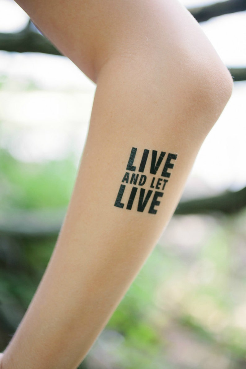 Leben Und Lassen Leben Temporäre Tattoo 2er Set Recovery Etsy
