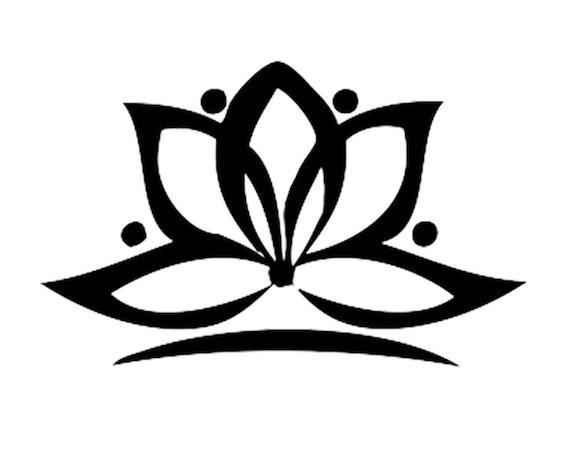 Lotus Flower Yoga Tattoo Set Of 2 Meditation Tattoo Yoga Etsy