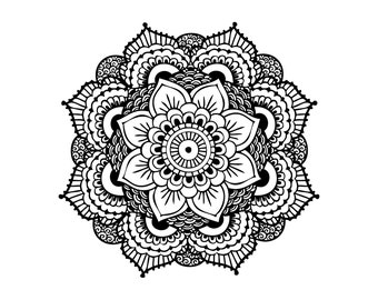 Mandala Temporary Tattoo - Set of 2 - Gift for Her - Yoga Gift - Gift under 5 - Music Festival Accessories - Large Tattoo - Meditation Gift