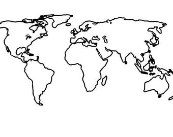 World map tattoos etsy world map tattoo gumiabroncs Image collections