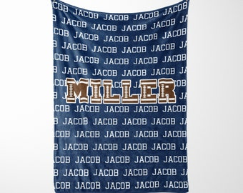 Personalized Football Blanket with Name, Sports gift, sports blanket, stadium blanket