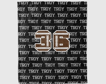 Personalized Football Blanket, Sports gift, sports blanket, stadium blanket,