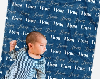 Personalized name blanket, Baby blanket personalized for boy or girl