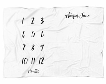 Classic Style Monthly Milestone Baby Blanket