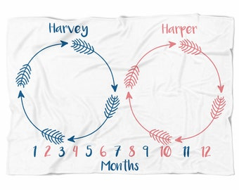 Twin Monthly Blankets
