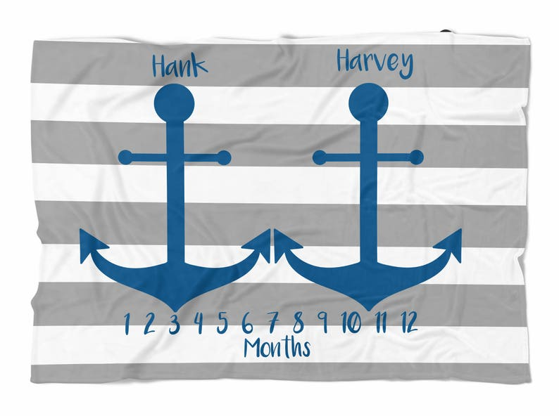 swaddle blanket Baby blanket Custom Blanket Twins Milestone blanket Monthly blanket for twins Personalized Baby boy Blanket