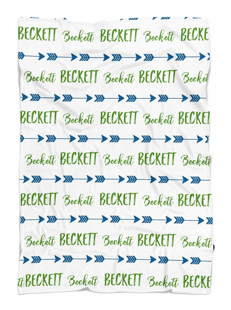 Pick your color MEDIUM size Arrow Name Blanket Personalized name blanket