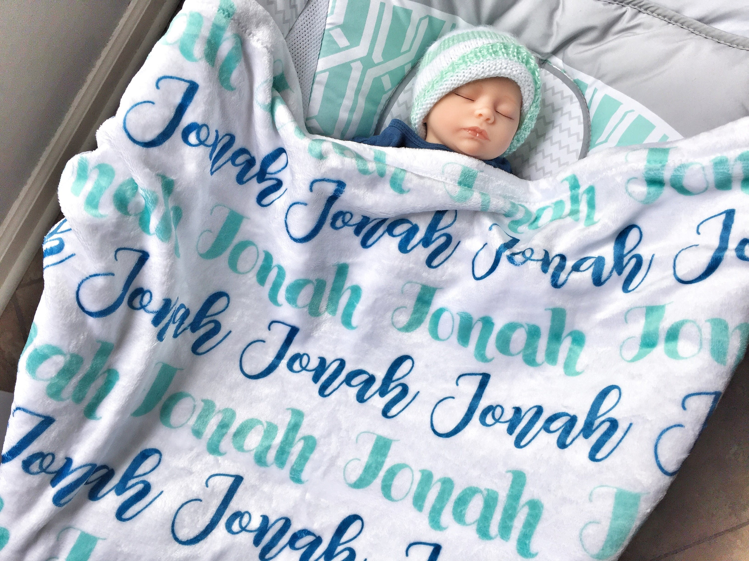 personalized baby boy blankets Personalized Boy Blanket   Monogram Boy Blanket   Personalized  personalized baby boy blankets